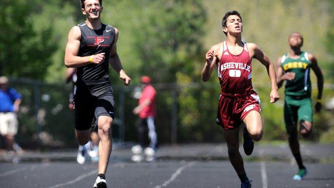 Pisgah's Brian Fernandez, left, will run in college for Western Carolina University.