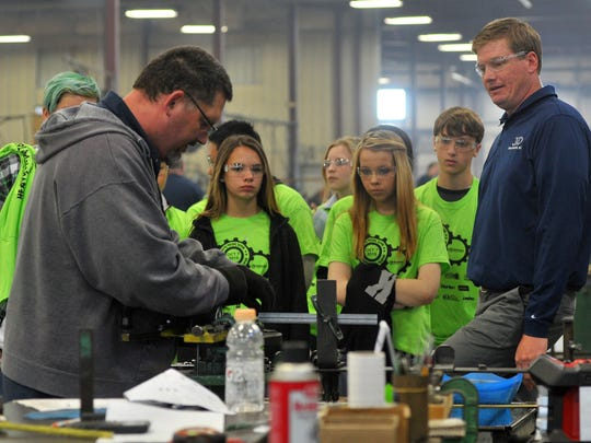Local middle school students visit J&D Tube Benders