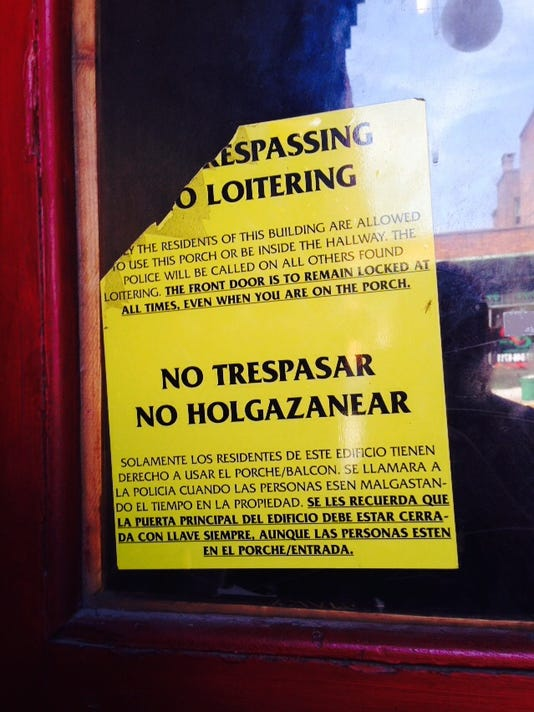 One reader said these no trespassing signs in city windows make York seem uninviting.