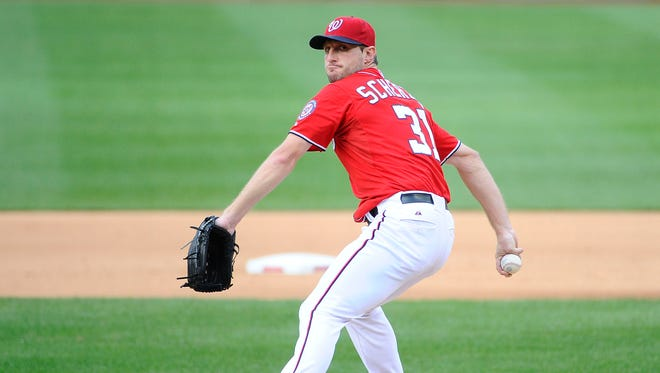 Max Scherzer allowed only one run on two hits in eight innings.