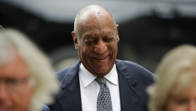 Bill Cosby arrives at hearing in his sexual assault case in Norristown, Pa., Aug. 22, 2017.