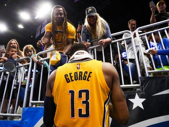 Apr 8, 2017; Orlando, FL, USA; Indiana Pacers forward