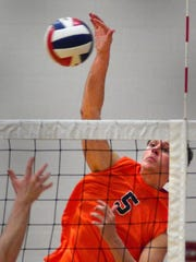 Nate Wilson, seen here in a file photo, helped Northeastern win the State College High School Invitational on Saturday. He had five kills in the championship match win over Greater Latrobe.