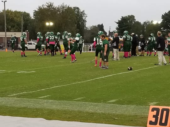 Parkside players get ready for their game against Snow