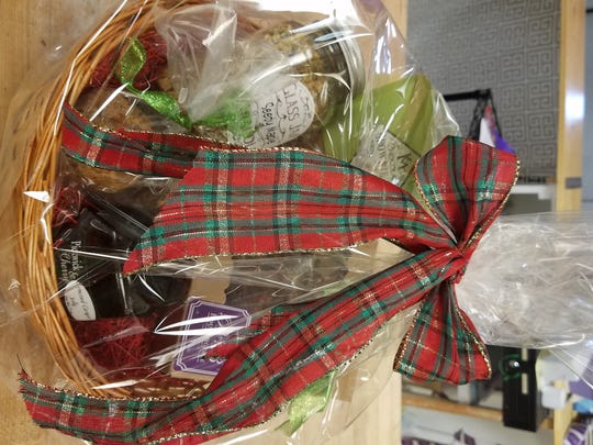 Springfield bakery B + B Boulangerie offers Christmas-y gift baskets with a variety of items enclosed, from the $20 Mini to the $100 Around the World Holiday Basket.