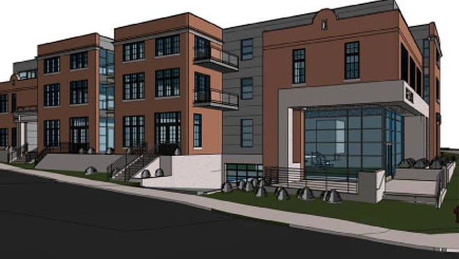 Rendering of the project Mainland Cos. plans in Germantown.