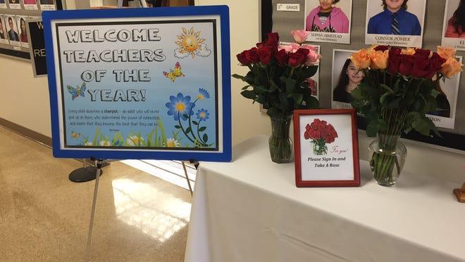 The Lafayette Parish teachers of the year were honored Wednesday.