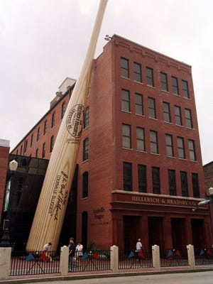 6.10.98      BIZ       #11    Exterior of  Hillerich & Bradsby Co.  which make the Louisville slugger at the location and  the Louisville Slugger Museum in downtown Louisville, Kentucky Wednesday, June 10, 1998.    (STAFF PHOTO/PAUL SANCYA)    File #31370