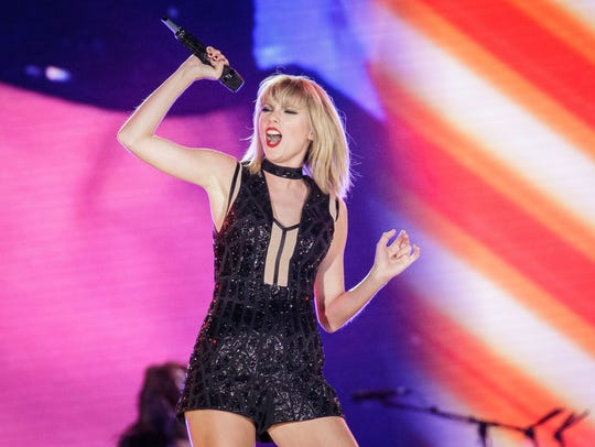 Taylor Swift on stage in October 2016 in Austin, Texas.