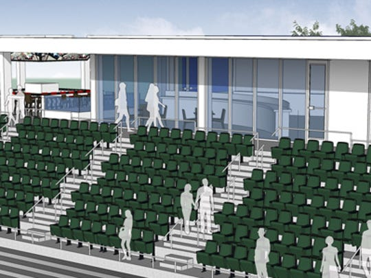 A club seating area will give fans a semi-private experience without having to purchase a suite.