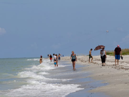Bowman's Beach on Sanibel is popular with tourists