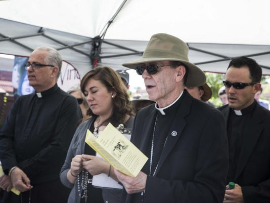 Bishop Thomas J. Olmsted leads Rosary for Life on Good Friday