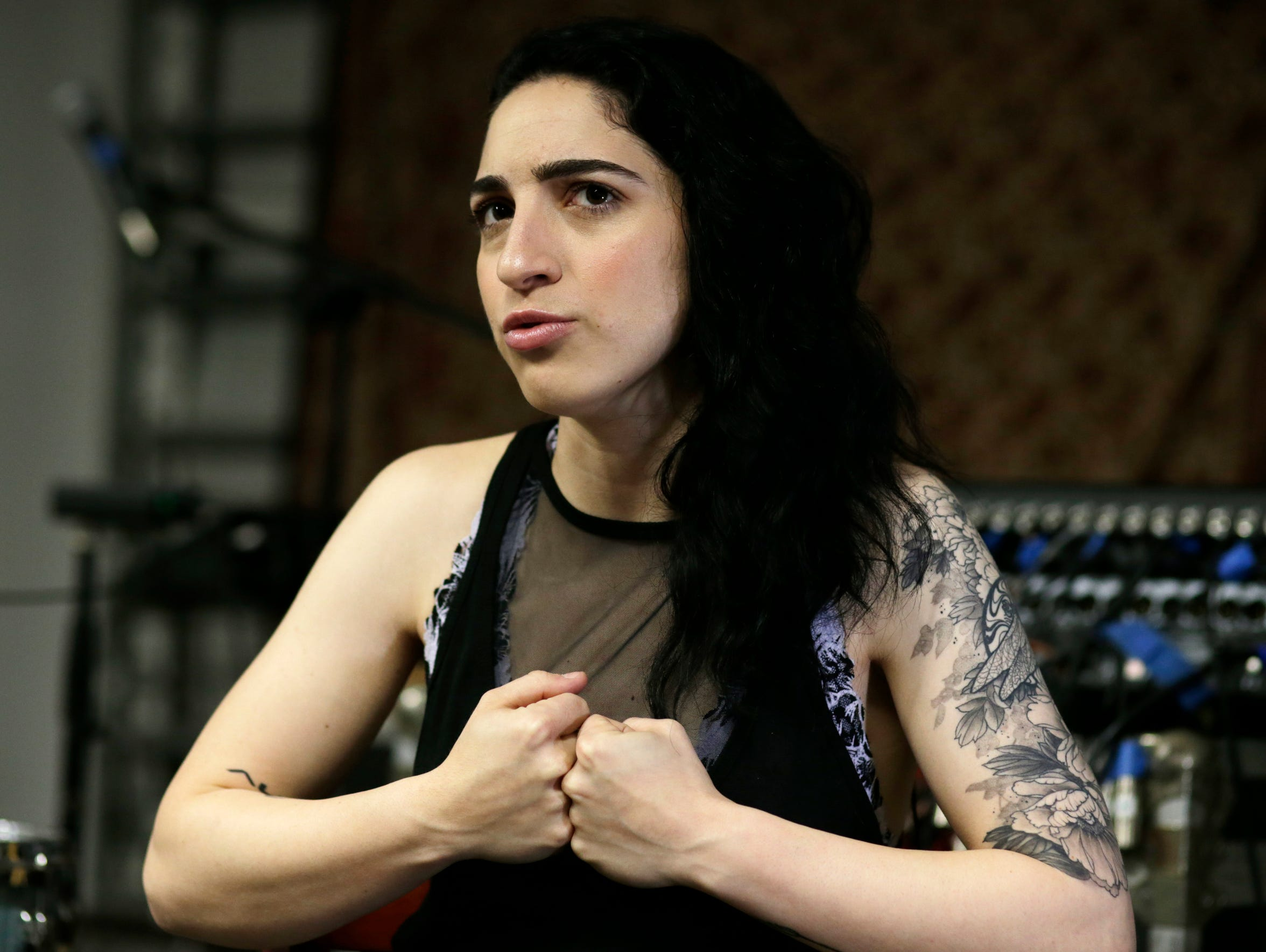 In this Tuesday, Jan. 31, 2017 photo, Emily Estefan