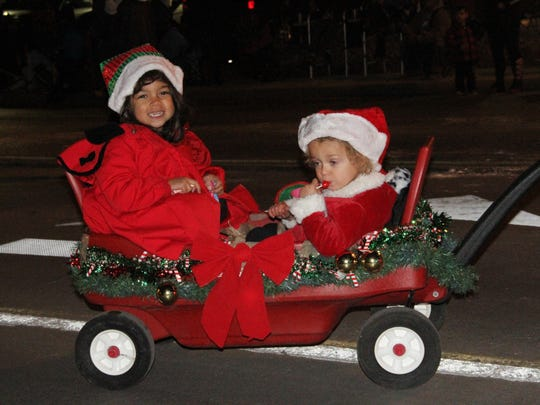 Some of the Christmas Parade floats were not extravagant but adorable in the design with smiles and Christmas cheer.