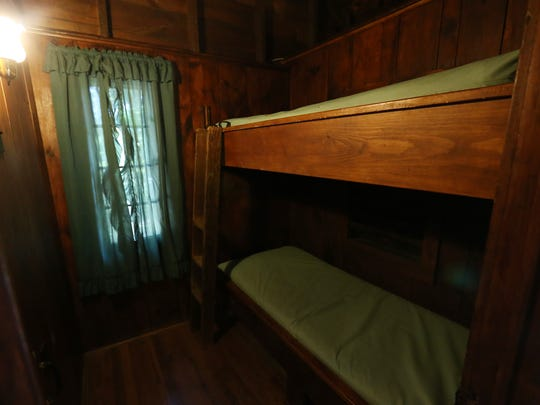 The bunkbeds in one of six Civilian Conservation Corps