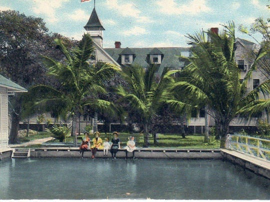 In the 1920s, hotel guests would use the swimming pool
