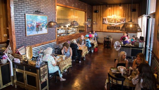 Diners eat at Erawan Thai Cuisine in Cedar City on Aug. 28, 2018. The restaurant opened in June.