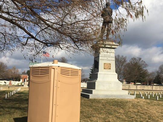 Answer Man: Isn't there a better place to put this port-a-potty than near the graves and Confederate statue?