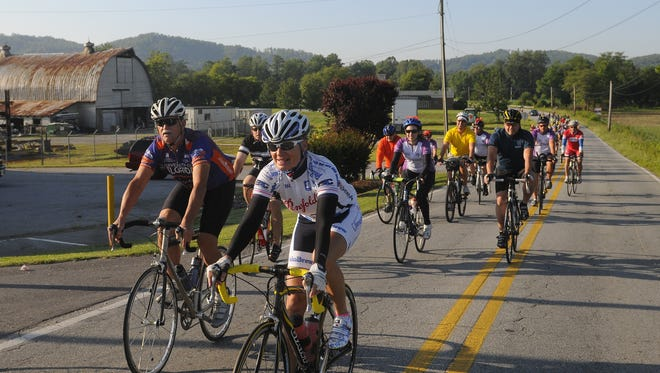 Hundreds of cyclists participated in the Blue Ridge Bike Club's Fletcher Flyer Bike Ride in June. Learn how to avoid cycling injuries at a free program at REI Asheville Wednesday night.