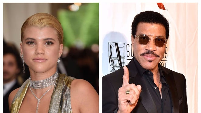 Sofia Richie and her father Lionel Richie.