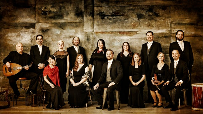 The Rose Ensemble sang music of the Middle Ages and Renaissance, plus  a world premiere composition.