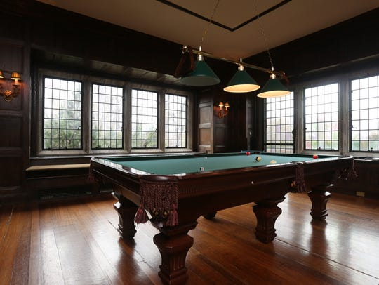 """The """"Man Cave"""" in the 1920 Tudor home on Purchase Street."""