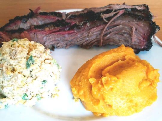 Stuart's Fish & Pig's Texas-style beef brisket plate
