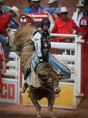 Utah cowboy Joe Frost, pictured at the Calgary Stampede