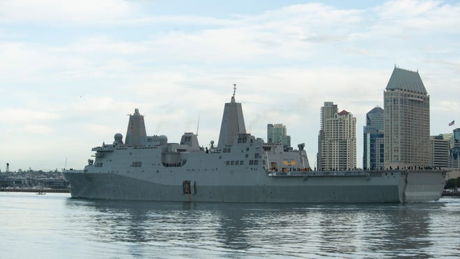 The USS Green Bay departs San DiegoMonday for Sasebo, Japan. Green Bay is replacing the decommissioned USS Denver.