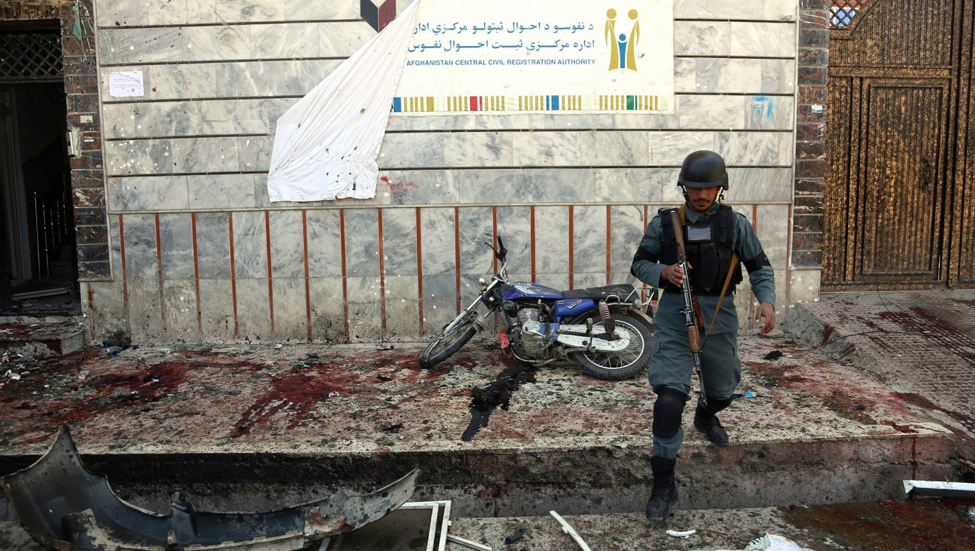 Afghan suicide bombing kills at least 50