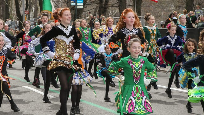 Irish dancers at the 2016 NYC St. PatrickGÇÖs Day Parade_credit Dominick Totino_nycstpatricksparade.org