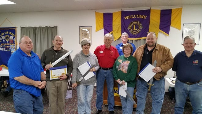 The Lions Club welcomed new members recently. New members were Mary Keller of Obetz, sponsored by Past District Governor Ed Otte, Tom Newlon of Millersport, sponsored by Past President Bob James, and Gene and Joyce Lane of Millersport, sponsored by Ron Emrich.
