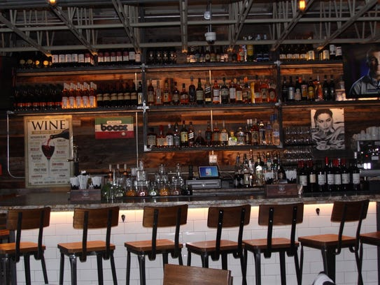 The bar at 808 Social, which opened recently in Eastchester.
