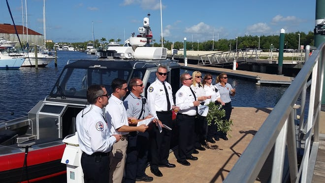 Iona-McGregor Fire District's new rescue boat blessed.