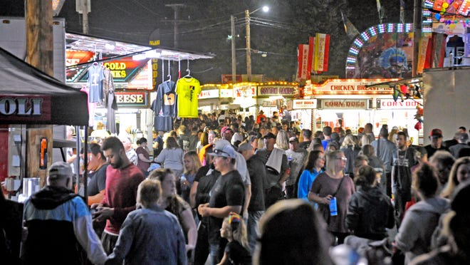 A Daily Record file photo shows a crowded Wayne County Fair.