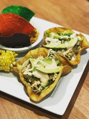 Chicken tostadas are featured as a lunch special at Blue Giraffe on Sanibel.