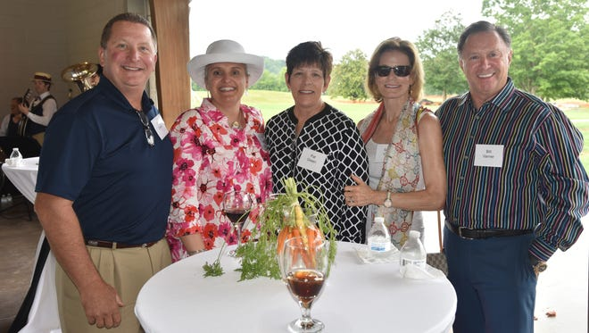The Marblegate fundraiser to benefit the Great Smoky Mountains Institute at Tremont was held at Lakeshore Park recently. Pictured here are event sponsors Paul Green, Tremont Institute's president and CEO, Jen Jones, Pat Green, and Susan and Bill Varner.