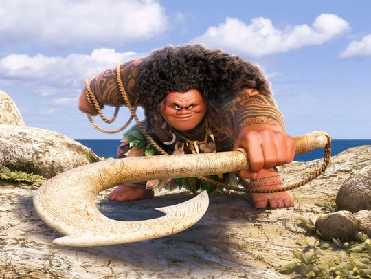 One of the keys to Maui (voiced by Dwayne Johnson)