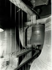The 14 tower bells at St. John's are various sizes with each one named for a saint.