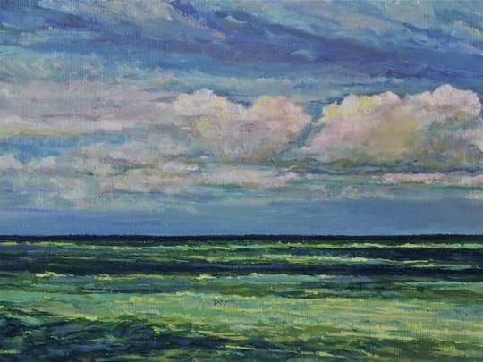 """Emerald Tide"" by Brigitte Kozma, part of the ""Renaissance Women II"" exhibit opening July 9 at Meadows Art Gallery in Sister Bay."