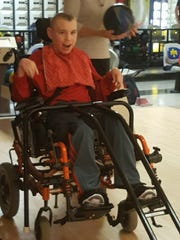 Brandon Kucowski enjoys bowling.