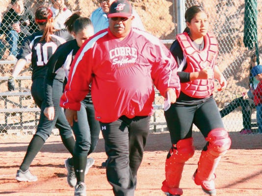 Danny Udero/Sun-News   Cobre High head softball coach Gibby Munoz was relieved from his duties. He had a career record of 238-70.