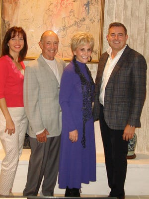 (left to right) Co-chair of upcoming April 18th luncheon event Dr. Jeralyn Brossfield, Jerry Keller, Barbara Keller, and Israel Cancer Research Fund Board Chair and April 18th luncheon Co-chair Patrick Mundt.
