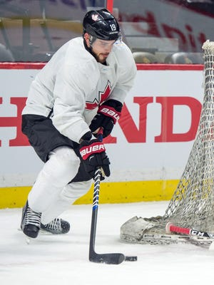 Tyler Seguin during practice for the World Cup of Hockey.