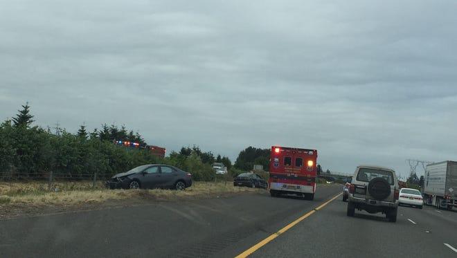 A crash on Interstate 5 delayed traffic Thursday morning.