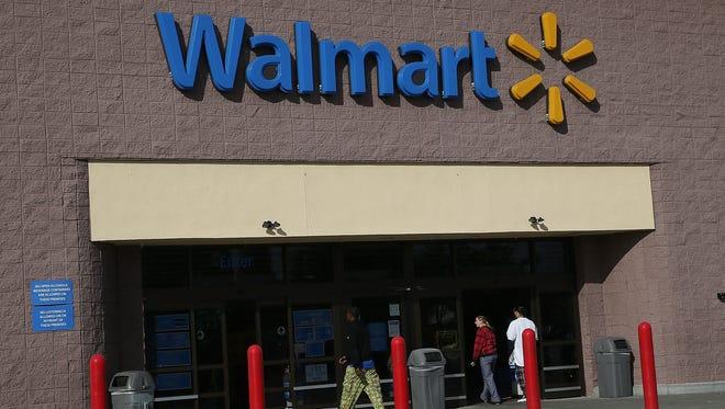 Customers enter a Wal-Mart store in San Lorenzo, California.