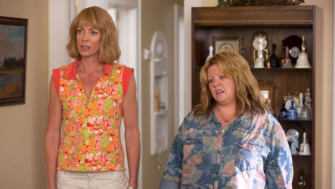 """Allison Janney, left, and Melissa McCarthy in a scene from """"Tammy."""""""