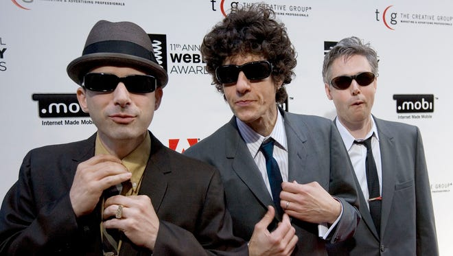 This June 5, 2007, file photo shows the Beastie Boys,  Adam Horovitz (Ad-Rock), left,  Michael Diamond (Mike D) and the late Adam Yauch (MCA) at the 11th annual Webby Awards in New York.