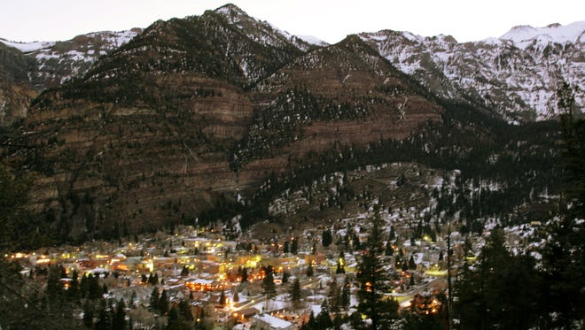 The old mining town of Ouray, Colo. is nestled 7,700 feet above sea level.