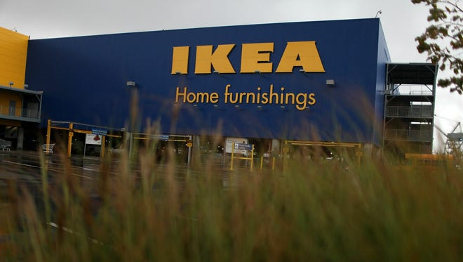 IKEA, the Swedish home furnishings retailer, says it will raise its minimum wage in the U.S. to $10.76 an hour starting Jan. 1. Pictured, an IKEA store in Brooklyn, N.Y.